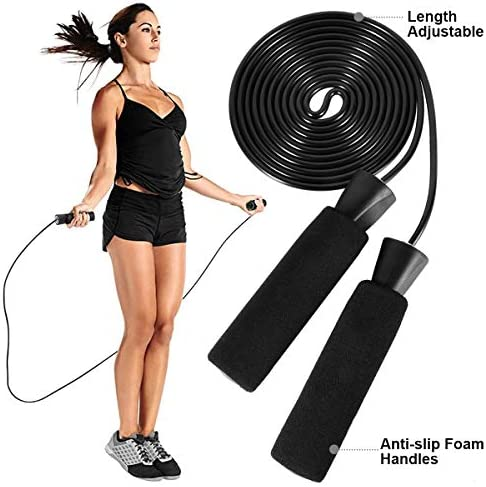 LYCAON Juego de rodillos de rueda Ab 4 en 1 incluye rodillo de rueda Ab, barra de empuje, cuerda de saltar y rodillera, kit de rueda de rodillo para perder peso, fitness, ejercicio músculos abdominales, ejercicio en casa, gimnasio 7