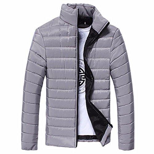 Thick Full HARRYSTORE Collar Gray Zip Coat Men Fit Warm Stand Outwear Slim Jacket Iv6xvr0q