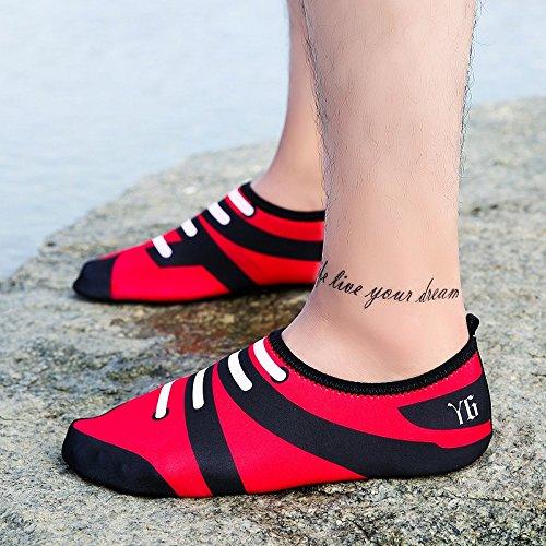 en la Skid zapatos piel 3 transpirables acuático Ultra cuidado SX Lucdespo playa blanco calzado de y de negro esquí light Anti zapatos natación HAxqZ