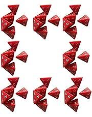 Oulensy 40 stuks 4 zijdige dobbelstenen set D4 voor kerkers en draken bordspel rood acryl polyhedral dobbelstenen voor spel liefhebbers