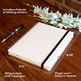 Spiral Notebook, College Ruled/Lined Journal Paper, Hardcover Bound Many Page Journal, Premium Paper Stickers, Elastic Closure Strap, Wirebound, 5.71 x 8.25 in. (2 Pack) - SuperiorMaker