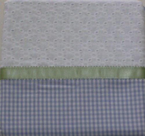(Home Lavender Gingham Eyelet Window Panel Flower Tie Top 84 Curtain)