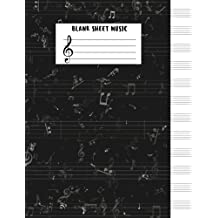 Blank Sheet Music : (Large Print) - 8.5x11 - 12 Stave Blank Sheet Music Paper - Music Manuscript Notebook - Blank Staff Paper - 104 Pages (Composition Books - Manuscript Paper) Vol.7: Blank Sheet Music Notebook