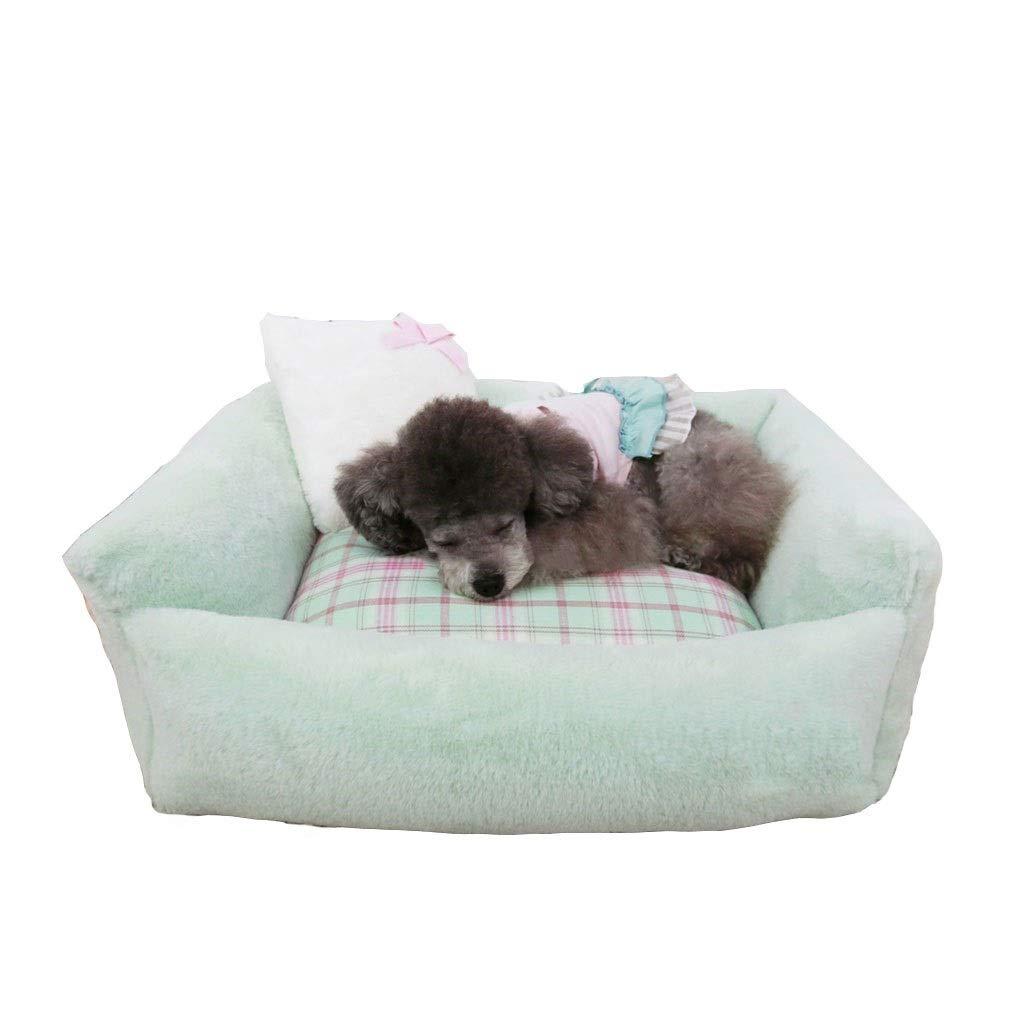 7059cm Pet Bed,bluee Warm Four Seasons Universal Removable Pet Bed (Size   70  59cm)
