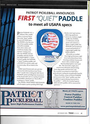 "SNIPER Patriot Pickleball Paddle ""Quiet"" Composite"
