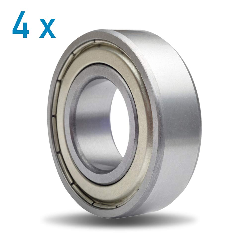 20 x 42 x 12 mm 1 DIY Mechanicals 6004ZZ Rodamiento de Bolas blindado de Metal