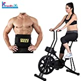 Body Gym Exercise Cycle 201 for Weight Loss at Home | Bonus New Sweet Belt for Stomach Exercise | Fitness Bike With Abdominal Exerciser | By KS Healthcare