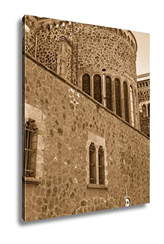 Ashley Canvas Architecture Of Barcelona Spain, Wall Art Home Decor, Ready to Hang, Sepia, 20x16, AG6536149 by Ashley Canvas