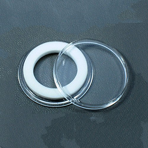 (10) Air-tite 20mm White Ring Coin Holder Capsules for 1/4oz Gold Maple Leaf and Shield Nickels