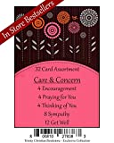Care & Concern Premium (No Repeated Cards) 32 count Christian / Religious Greeting Card Asst. ~ Scripture in every card ~ Free 4pk of Birthday Cards