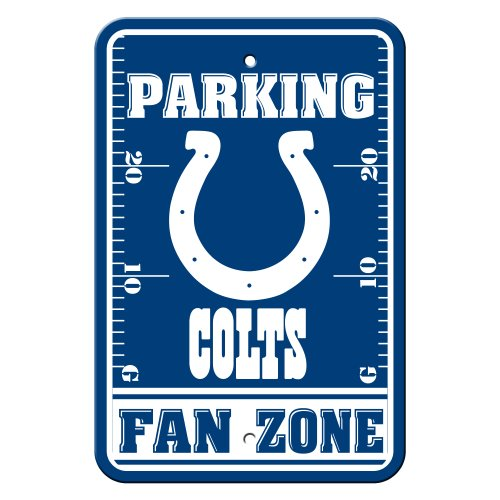 NFL Indianapolis Colts Plastic Parking Signs ()