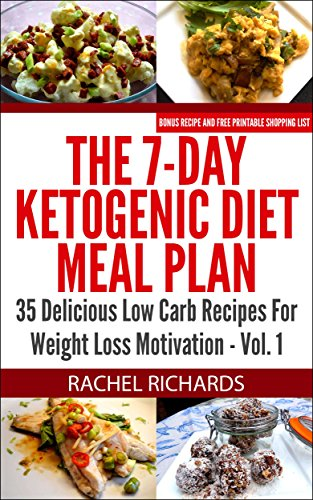 The 7 Day Ketogenic Diet Meal Plan Volume 1 Kindle Edition By