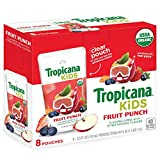 Tropicana Kids Organic Juice Drink Pouch, Fruit Punch, 5.5 fl oz Pouches, 8 Count