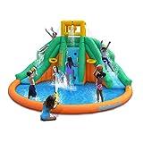 Twin Peaks Kids Inflatable Splash Pool Backyard Water Slide Park With Ebook
