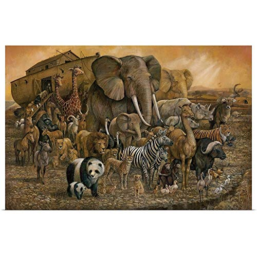 Ark Canvas - Great Big Canvas Poster Print Entitled Noah's Ark by Ruane Manning 24