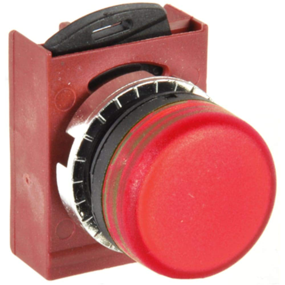 Indicator Part; Red diffused Lens; 22mm MNT; Used with Filament Bulb, Pack of 5