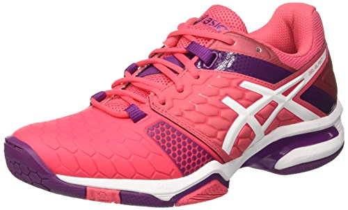 Asics Gel-Blast 7, Scarpe da Pallamano Americana Donna Multicolore (Rouge Red/White/Prune)