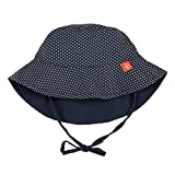 Lassig Sun Protection Bucket Hat, Polka Dots Navy, Newborn...