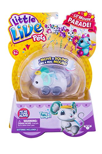 LITTLE LIVE PETS S4 LIL' MOUSE SINGLE PACK TINY ANGEL