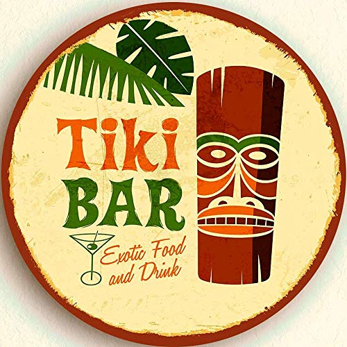 - ALOTALOHA Set of 4! Tiki BAR Coaster Set Made in USA! 3 1/2