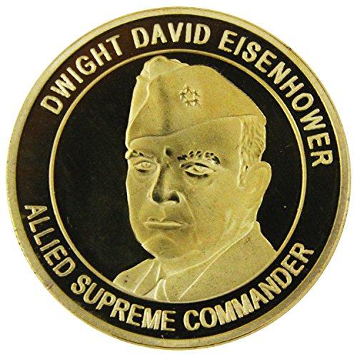 War Challenge Coin - Art Crafter War Challenge Coin with Dwight David Eisenhower A005J
