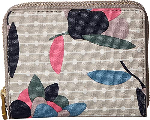 Fossil Women's RFID Mini Multifunction Wallet Floral Multi/White One Size