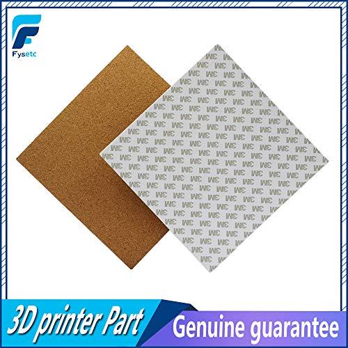 Impresora 3D – 4 hojas de corcho adhesivas de 200 x 200 x 3 mm para Prusa i3 MK2a placa caliente de cama caliente con cinta...
