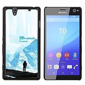 """Be-Star Único Patrón Plástico Duro Fundas Cover Cubre Hard Case Cover Para Sony Xperia C4 E5303 E5306 E5353 ( Montañas Éxito Senderismo Escalada Azul"""" )"""