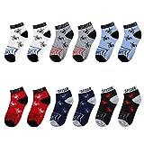 #6: Falari 12 Pairs Boy Toddler Kids Cotton Socks