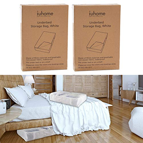 (iuhome (2 Pack Underbed Storage Containers 30 x 18 x 6