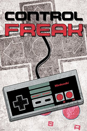 Control Freak Nintendo Nes Old School Classic Vintage Video Game Controller Nes 004 Poster