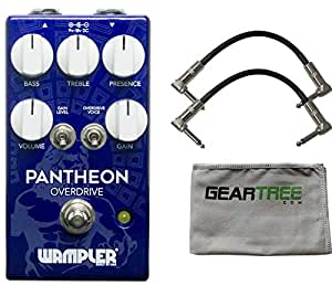 Wampler Pantheon Overdrive Effects Pedal w/ 2 Patch Cables and Cloth