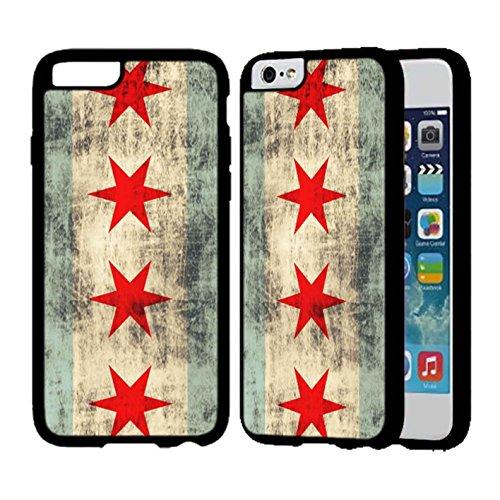Vintage Grunge Chicago Flag Cover iPhone Case Cover iPhone 6 Plus Case or Cover iPhone 6S Plus Black Plastic Q7K7KWD