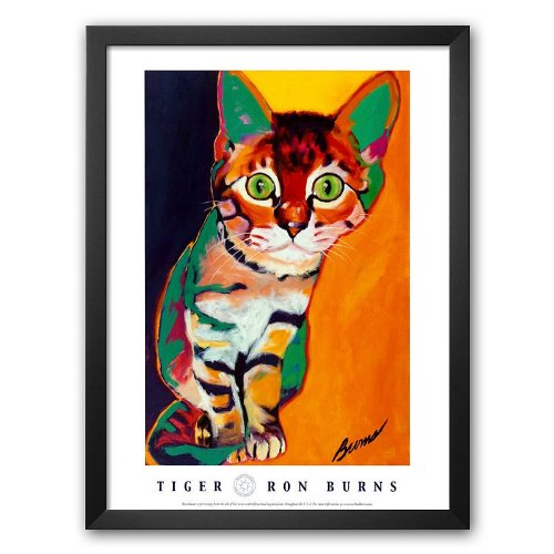 Art.com Tiger Framed Art Print by Ron Burns ()