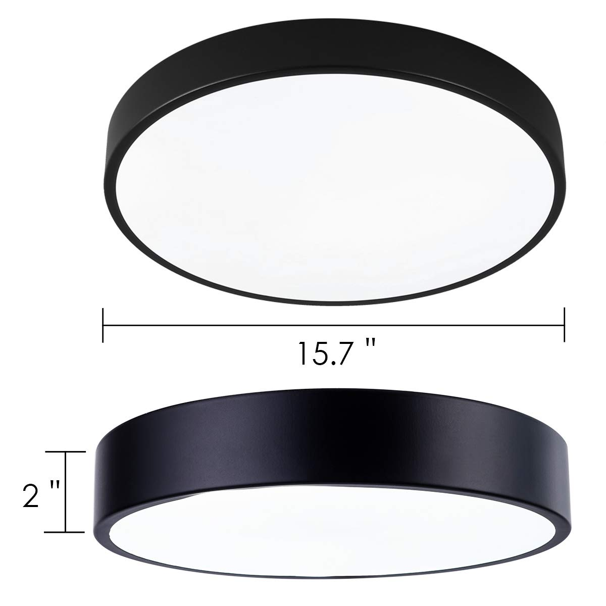 Black Hallway SAISHUO Round LED Flush Mount,11.8in 18W 6000K Living Room Foyer Ultra-Thin Ceiling Light Fixture for Bedroom Cold White
