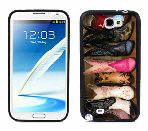 NT2 Cowboy Boots For Samsung Note 2 N7100 Case Cover