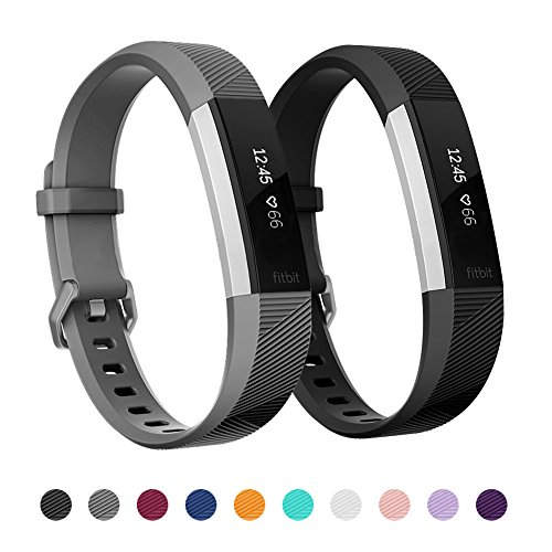 Kutop Bands Compatible for Fitbit Alta Fitbit Alta HR, Silicone Adjustable Bracelet Sports Fitness Replacement Bands Accessories Watchband for Boys Girls, Small Large ()