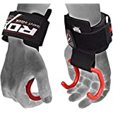 RDX Weight Lifting Gym Wrist Support Hook Strap Crossfit Hand Bar Bodybuilding Training Workout