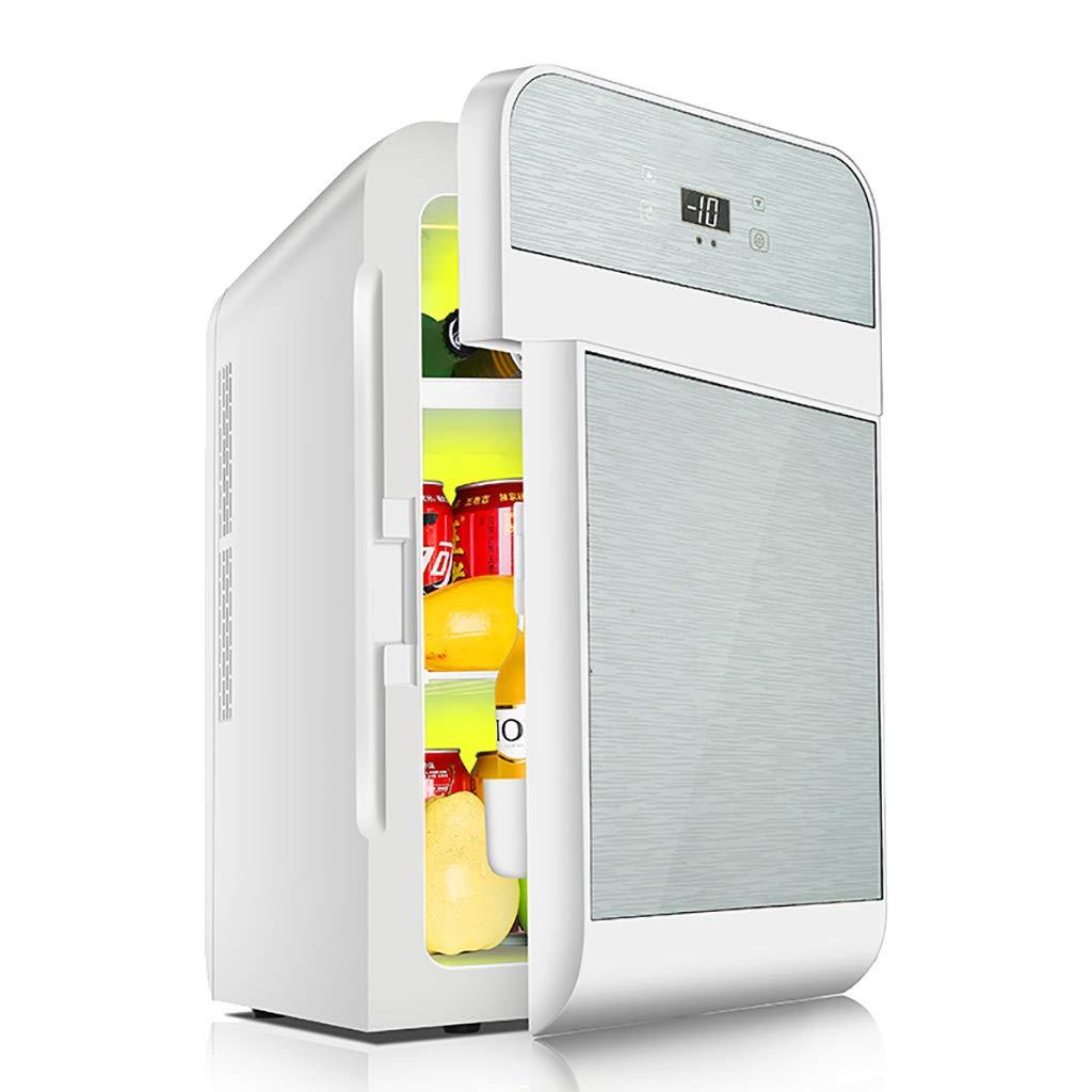 20l Car Refrigerator, Car Home Dual-Use Portable Mini Fridge Student Dormitory Cooler & Warmer Box Double Voltage Small Freezer - Gold/Silver