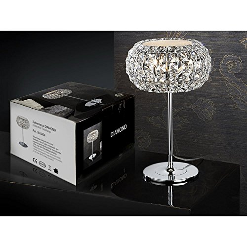 Schuller Spain 508424I4L Modern, Art Deco Chrome Open Dome Table Lamp 1 Light Living Room, bed room, Study, Bedroom LED, Open Dome Chome Table Lamp | ideas4lighting by Schuller