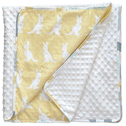 pam-grace-creations-honeydoo-kangaroo-baby-blanket-gold-white