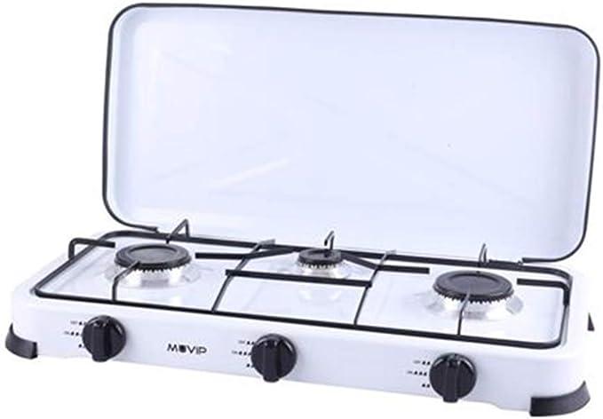 MUVIP Cocina de Gas 3 Fuego Blanca
