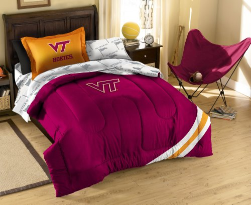 Virginia Tech Twin Comforter - The Northwest Company Officially Licensed NCAA Virginia Tech Hokies Twin Bedding Set