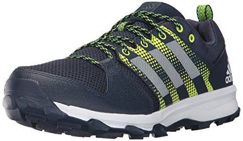 adidas Men's Galaxy Trail m Running Shoe, Collegiate Navy/White/Solar Yellow, 11.5 Medium US (Adidas Trail Running Shoes Men)