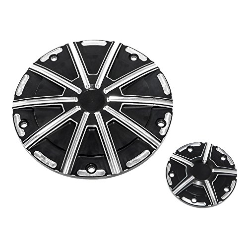 Senkauto 5 Hole Deep Cut Derby Timer Cover and Points Covers Kit for Harley 1999-2014 Harley Twin Cam Softail Touring Road King Electra Glide Dyna (Color A)