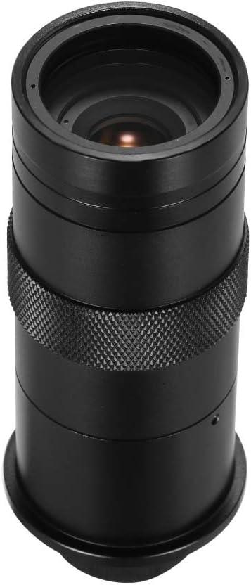 Owsoo Mikroskopobjektiv Ccd Industrie Mikroskop Kamera 8x 100x Mikroskopobjektiv C Mount Vergrößerung Einstellbare Okularlupe Industrie Objektiv Für Lab Pcb F3 0 Baumarkt