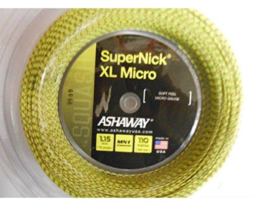 ASHAWAY SuperNick XL Micro 1.15mm Squash String 110m Reel 224649.224650