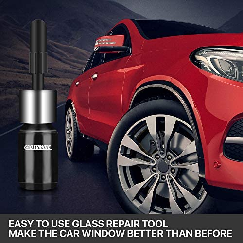 AUTOMIRE Automotive Nano Glass Repair Fluid Kit (2PCS) Car Auto Windshield Repair Resin Kit | Wind Shield Car Glass Repair Set | Crack Repairing for Car & Android iPhone Screen