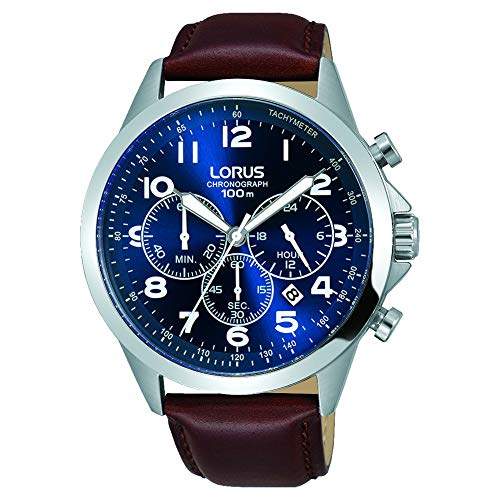 Lorus Gents Chronograph Stainless Steel Case Strap Watch -  RT379FX9