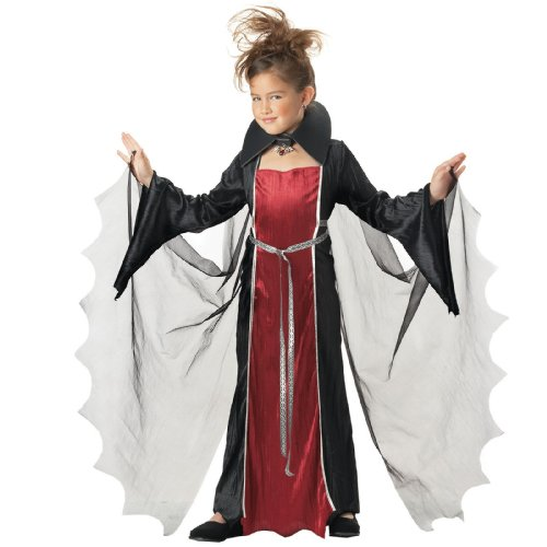 California Costume Collection - Vampire Girl Child Costume - X-Large (12-14) - Black/Red -